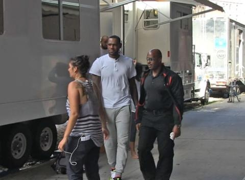 News video: LeBron James -- FIRST DAY ON MOVIE SET ... In New Amy Schumer Flick